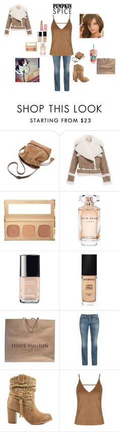 """""""#275 Starbucks"""" by harleenquinnzelllllll ❤ liked on Polyvore featuring Burberry, Payne, Bare Escentuals, Elie Saab, Chanel, Smashbox, Louis Vuitton, Silver Jeans Co., Not Rated and Topshop"""
