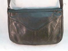 Vintage Branson Bennett Purse Shoulder Bag Black Leather CA USA Handbag #BransonBennett #ShoulderBag #Everyday