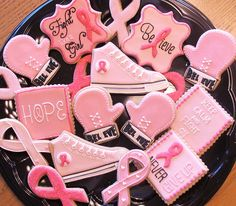 Cookies Inspired by Breast Cancer Awareness Month