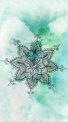 Mandala / Wallpaper / lockscreen / verde