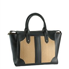 GiGi New York | Elements Of Style Blog | Natural Grain & Embossed Python Leather | The Gates Satchel @Erin B Gates