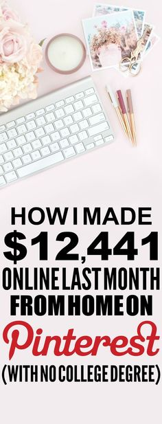 How she made $12,441 online last month is SO COOL! I'm so glad I found these AWESOME tips! Now I have a great way to make money online and work from home! I never thought about how to blog before. Definitely pinning!