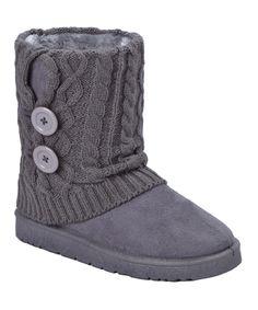 Look at this #zulilyfind! Gray Button GG Boot by Califootwear #zulilyfinds