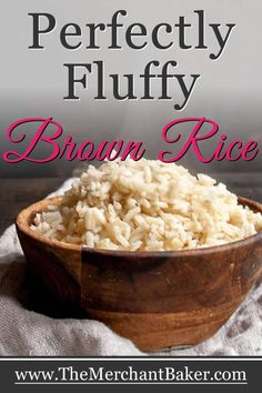 No more mushy, wet or sticky brown rice. This is the easy, fool proof secret to cooking perfect brown rice. Brown Rice Cooking, Cooking Green Beans, Brown Rice Recipes, Easy Rice Recipes, No Dairy Recipes, Potato Recipes, Pasta Recipes, Yummy Recipes, Vegetarian Recipes