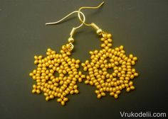 Lacy Earring Master Class - step by step but translate ~ Seed Bead Tutorials