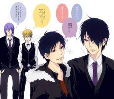 .@emrex384 えむ氏お誕生日(だった)と聞いて!紫氷も好きだと聞いて!(*´Д`) シズイザと紫氷