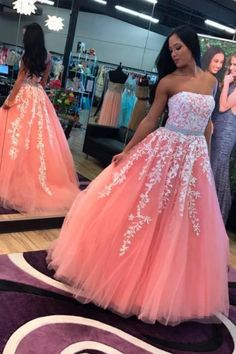 Appliques Prom Dresses,Sexy Evening Dress,Charming Prom Dress,Elegant Ball Gown Prom Dress, Formal Gown