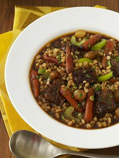 Ready When You Are: 5 Slow-Cooker Meals Kids Love: Beef and Barley Stew (via Parents.com)