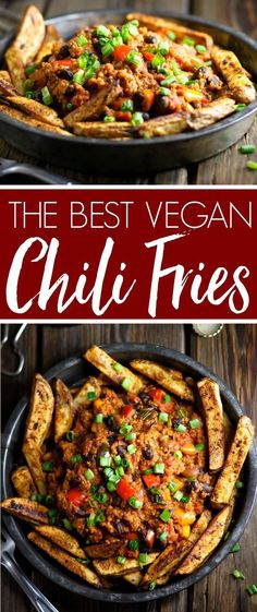 Best Vegan Chili Fries The Best Vegan Chili Fries - healthy ingredients and AMAZING flavor! Stay in tonight and feast on these!The Best Vegan Chili Fries - healthy ingredients and AMAZING flavor! Stay in tonight and feast on these! Vegan Dinner Recipes, Whole Food Recipes, Cooking Recipes, Healthy Recipes, Kitchen Recipes, Cooking Tips, Eat Healthy, Plant Based Dinner Recipes, Easy Recipes
