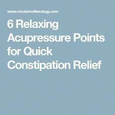 acupressure factors for constipation videos