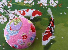 gift for her Japanese kimono fabric brooch by japanmomijidesigns, $20.00
