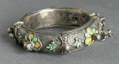 This is an African/Moroccan Late Islamic silver bracelet from the collection at the Los Angeles Country Museum of Art.