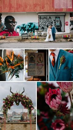 A bright and bold wedding filled with proudly South African touches like proteas, African print fabrics, strelizias, and the Joburg skyline! South African Weddings, Traditional Wedding, Printing On Fabric, Dream Wedding, Party Ideas, Wedding Ideas, Tattoo, Beautiful, Fabric Printing