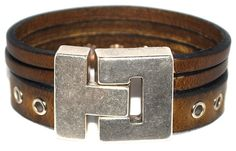 Leren armband ring licht bruin #Armbandenriemen