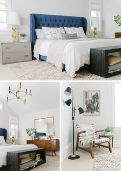 Paint the dresser grey (Sherwin-Williams Gauntlet Gray.)  Walls:  Sherwin-Williams Crushed Ice SW 7647