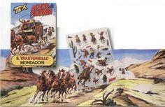 """Mas Tex Willer, o nosso amado Ranger também na Itália teve os seus kalkitos, mais precisamente em 1978 e com o selo da prestigiada Mondadori. Por lá o nome desta prazerosa brincadeira era """"Il Trastoriello"""" e Tex teve direito a três coleccionáveis: """"Fort Apache"""", em Abril de 1978, """"Il campo indiano"""", em Julho do mesmo ano e """"Assalto alla diligenza"""", em Outubro também de 1978."""