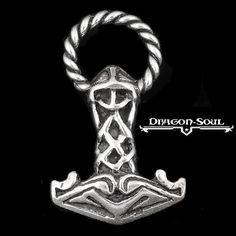 STERLING SILVER 2 SIDED RINGED THE VIKINGS THORS HAMMER ASATRU PENDANT MJOLNIR #DragonSoulJewelry