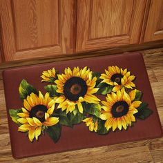 Sweet Home Collection Rectangular Kitchen Mat & Tuscan Sunflower Dinnerware: Yes please! | Home | Pinterest ...