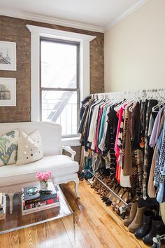 With Love From Kat: My Closet. Turn your second bedroom into a closet!