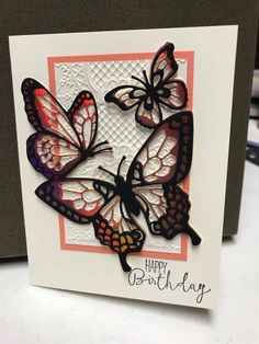 Diy And Crafts, Paper Crafts, Spring Books, Butterfly Cards, Happy Birthday Cards, Folded Cards, Greeting Cards Handmade, Holidays And Events, Decoration