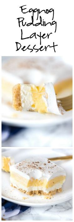 Eggnog Pudding Layer Dessert
