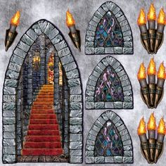gothic castle wall stickers