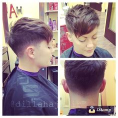 #chickfade on my friend Erica ;) #hair #haircut #hairstyle #hairstylist #shorthair #shorthaircut #shorthairstyle #pixie #pixiehaircut #nothingbutpixies #ladyfade #fade