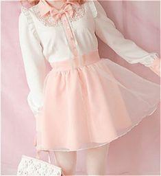 cute kawaii pink pastel Korean fashion kfashion dresses Japanese Fashion…