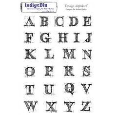 Indigoblu Design Alphabet A5 Red Rubber Stamp by Indigoblu