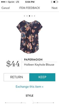 Papermoon Holleen Keyhole Blouse. I love Stitch Fix! A personalized styling service and it's amazing!! Simply fill out a style profile with sizing and preferences. Then your very own stylist selects 5 pieces to send to you to try out at home. Keep what you love and return what you don't. Only a $20 fee which is also applied to anything you keep. Plus, if you keep all 5 pieces you get 25% off! Free shipping both ways. Schedule your first fix using the link below! #stitchfix @stitchfix…