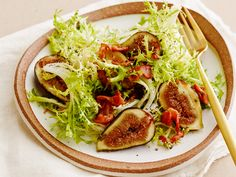 Fig, Bacon and Frisee Salad recipe from Food Network Kitchen via Food Network