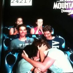We decided on this for our Space Mountain picture. Don't worry-Shawn and Austin are fake kissing. Mountain Pictures, Space Mountain, Family Photo, Kissing, Don't Worry, No Worries, Concert, Disney, Funny