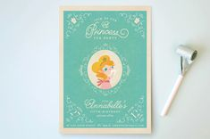 Princess Tea Kids Party Invitations by Lori Wemple | Minted