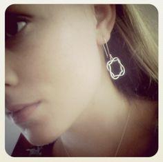 Miss K Wearing Schwarzie Overlapped Sterling Silver Earrings