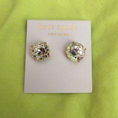 Kate Spade Earrings Clear and Gold Gumdrop earrings. Dust bag included. kate spade Jewelry Earrings