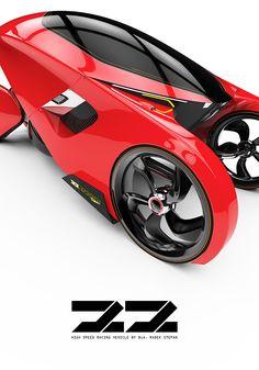 Futuristic Racing Vehicle on Behance