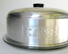 Mid-Century Cake Saver with Glass Plate