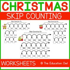 Help your students learn their numbers with this Christmas themed skip counting pack! Skip counting by 5's, 6's, 7's, 8's, 9's, 10's, 11's, 12'sIncludes:8 pagesGraphic Credit to: Prettygrafik.com... Christmas Printable Activities, Skip Counting By 5, Student Learning, Christmas Themes, Worksheets, Teaching, Education, Numbers, Students