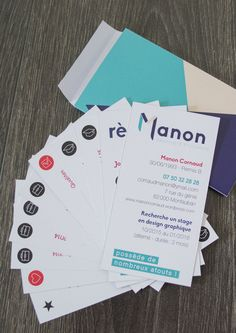 CV cartes à jouer. Cv original, Manon Cornaud, graphisme, picto, curriculum vitae, identité visuelle, cv carte, cv créatif