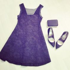 Gorgeous skater dress with mesh and leather