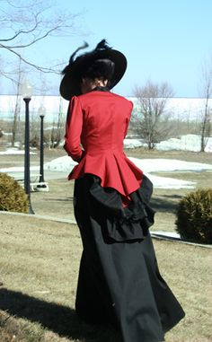 Riding habit bodice - love the bustle effect in the back
