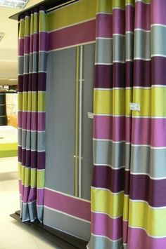 Drapery Ideas, Pink Furniture, Shop Displays, Curtain Designs, New Print, Showroom, Cheers, Homes, Curtains