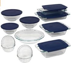 pyrex set with lids, WOW I am drooling here LOVE this set #Kitchen, #Pyrex
