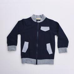 Navy & grey zip up
