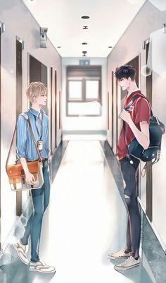 Anime Couples Drawings, Couple Drawings, Cartoon Girl Drawing, Girl Cartoon, Boyxboy, Shounen Ai, Doujinshi, Cute Pictures, Anime Art