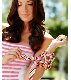 Fabric Wrapped Bracelets | Summer Outfit Accessories | Find fabric at Jo-Ann Fabric and Craft Stores