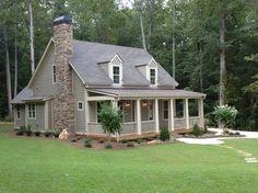 weathered wood~Lake Coweta Cottage - traditional - exterior - atlanta - The Aldrich Group, LLC
