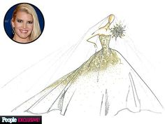 Jessica Simpson's Wedding Gown Sketch by Carolina Herrera wedding dresses carolina herrera Jessica Simpson Got Married! Source by herrera bridal Jessica Simpson Wedding Dress, Jessica Simpson Style, Wedding Dress Sketches, Wedding Dresses, Wedding Trends, Wedding Styles, Wedding Ideas, Celebrity Wedding Gowns, Celebs