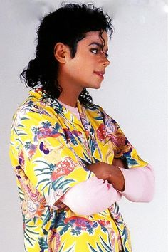 Michael Jackson... Bad era... I guess this picture was taken on the set of the Leave me alone shortfilm.