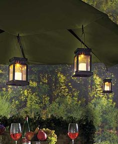 Add a glimmer to your outdoor patio with this Set of 3 Solar Clip Umbrella Lights. At night, these lanterns light up and look like they have a real candle glowing inside. Clip one onto your patio table umbrella, or put away your flashlight and use it to navigate in the dark. Great for #camping on tents or overhangs.